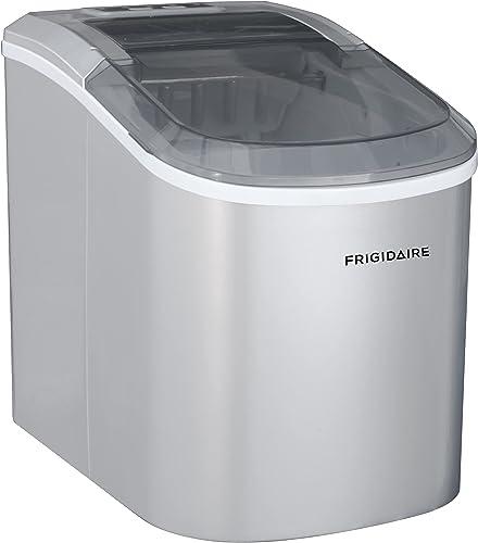 Frigidaire EFIC189-Silver Compact Ice Maker, 26 lb per Day, Silver
