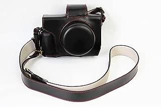 オリンパス OM-D E-M10 Mark II OM D E M10 Mark II 14-42mm カメラケース、koowl 手で作った最高級のpu革の全身カメラ保護殻、OLYMPUS OM-D E-M10 Mark II OM D E M10 Mark II ケース(14-42mmのレンズに適用)向けの透かし彫りベース+ショルダーストラップ、防水、防振、携帯型 (ブラック)