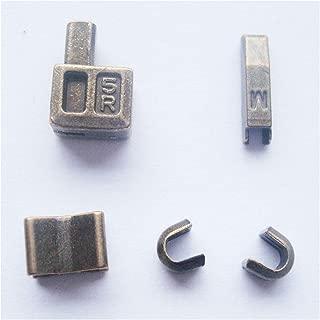 2 sets bronze #5 metal zipper head box zipper resucue slider zipper pull replacements zipper sliders retainer insertion pin easy for zipper repair kit(#5)