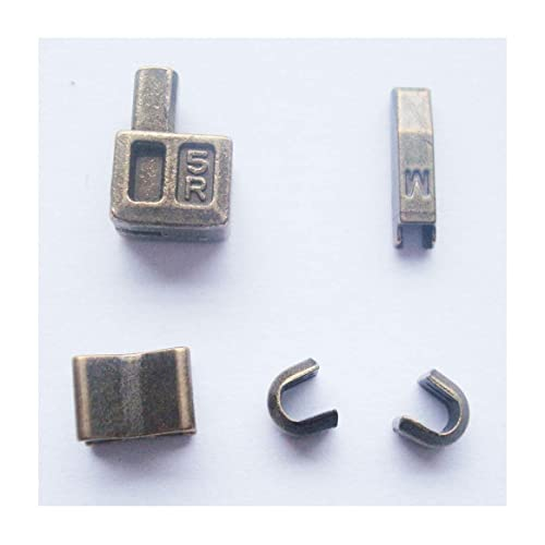 2 sets bronze #5 metal zipper head box zipper resucue slider zipper pull replacements zipper