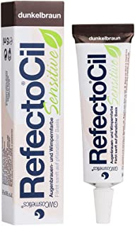 REFECTOCIL SENSITIVE PERMANENT EYEBROW & EYELASH TINT 15ml - DARK BROWN by Refectocil