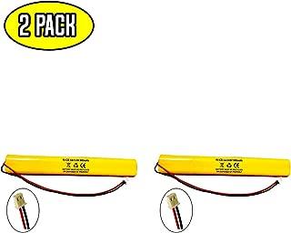 (2 Pack) ELBB003 Lithonia ELB-B003 Unitech BAT9.6V700 9.6v 900mAh Exit Sign Emergency Light NiCad Battery Replacement ELB-B004 ELBB004 OSI OSA228 DANTONA CUSTOM-306-U BBAT0044A BAA-96 BBAT0043A