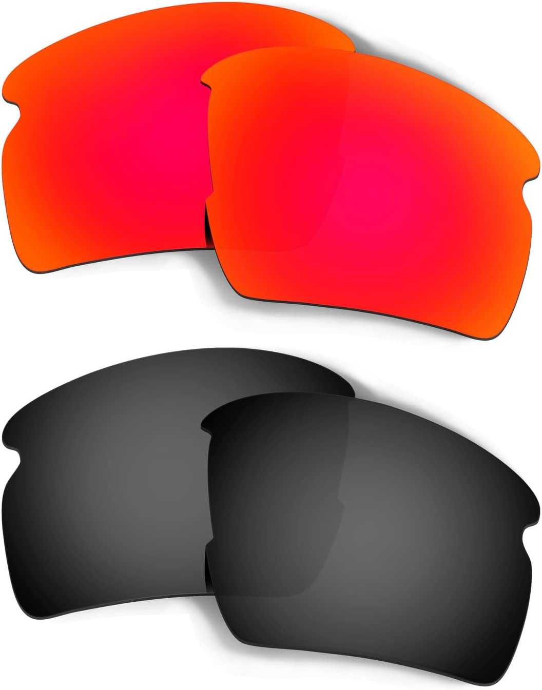 HKUCO Replacement Lenses for Oakley Flak 2.0 AF OO9271 Sunglasses Red/Black