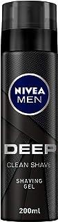 NIVEA MEN DEEP Clean Shave Shaving Gel, Antibacterial Black Carbon, 200ml