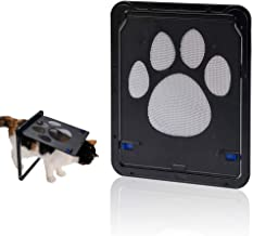 Hyindoor Puerta para Perros y Gatos Puerta Mosquitera para Mascotas Gatera de Gatos con Cerradura Automática Puerta Magnética con Malla para Perros Pequeños (9.4