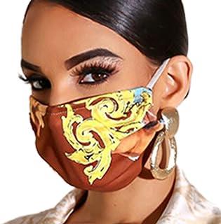AvilaRasu Boho Summer Outdoor Tropical Leaf Snakeskin Print Breathable Dustproof Washable Earloops for Face