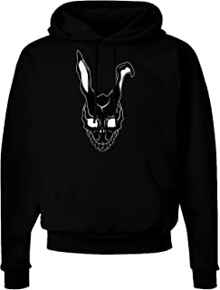 TooLoud Scary Bunny Face Black Dark Hoodie Sweatshirt