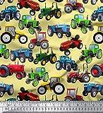 Soimoi 44 Zoll breit Moss Georgette Stoff 130 GSM Traktor