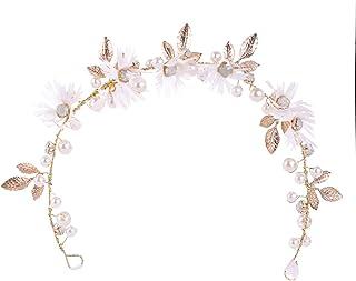 Wedding Jewelry Headband Handmade Bridal Accessories Rhinestone Flower Bride Tiara girls Hair Jewelry