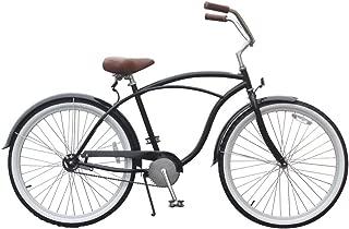 sixthreezero BE Bicicleta de Playa de Velocidad única, Color Negro, Ruedas de 26 Pulgadas/Marco de 19 Pulgadas