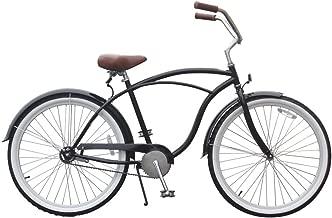 sixthreezero Men's BE Single Speed Beach Cruiser Bicycle, Black, 26