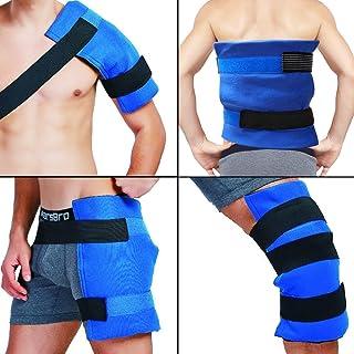 Paquete y envoltura de hielo en gel flexible grande terapia de frío - calor para cadera, hombro, codo, espalda, rodilla - Gran alivio para esguinces, dolor muscular, contusiones, lesiones - 11