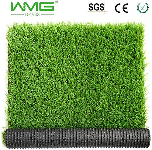 WMG GRASS Premium Artificial Grass, Drainage Mat, 6.5' x 10' Artificial Turf for Dogs, Cats, Pets, Turf Realistic Indoor/Outdoor for Garden, Patio (65 sq ft)