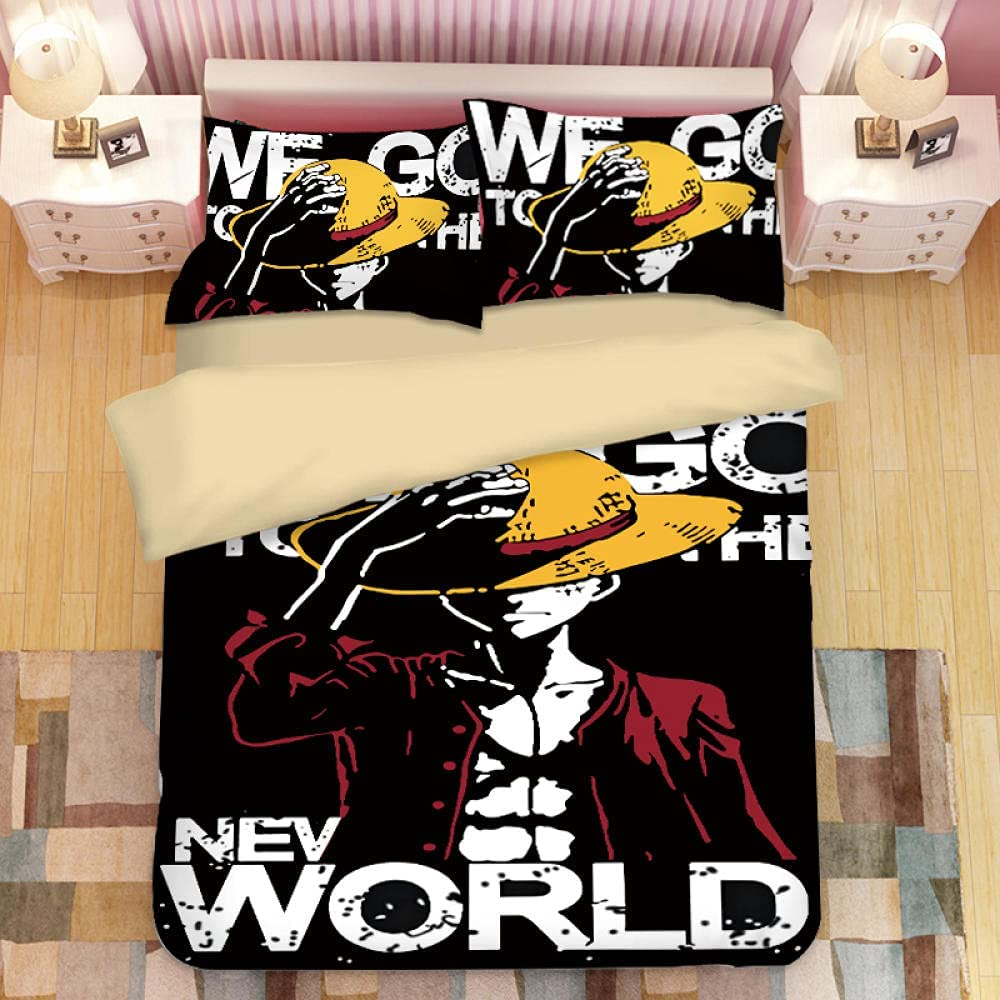 Cartoon One Piece Quilt Cover Set Bedding Lightweigh A surprise price Sale SALE% OFF is realized