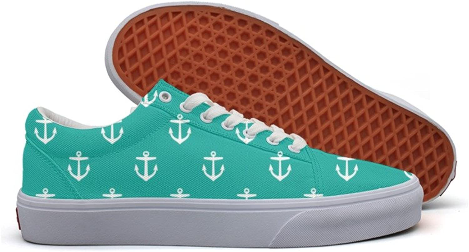 Anchors Repeated Fashion Canvas Sneakers For Womns 3D Printed Low Top Canvas shoes