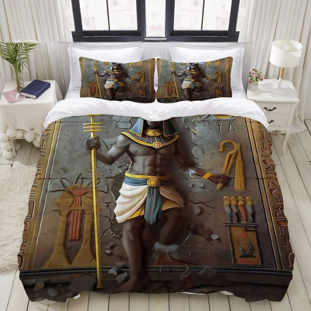 LIASDIVA Duvet Cover Egypt Anubis King お値打ち価格で NEW ARRIVAL Egyptian Bedding Culture