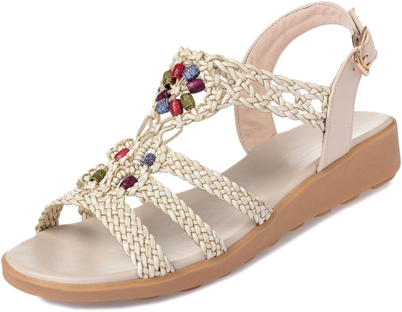 Btrada Women Bohemia Braid Flat Sandals Fashion Open Toe Dress Sandals