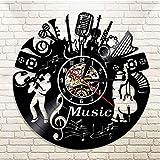 MRQXDP Banda de música Silueta Instrumentos Musicales Decoración de Pared...