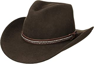 Lierys Cappello Western The Rancher Uomo - Made in Italy da Cowboy Feltro di Lana con Fascia Pelle Autunno/Inverno