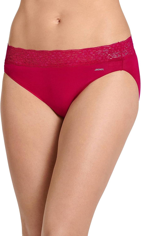 Jockey Women's Underwear No Panty Line Promise Tactel Lace Bikini