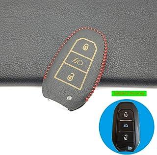 Copertura per auto Copertura astuccio portacellule in ABS Custodia protettiva per chiave per auto Smart Cover adatta per Mini Hatch 3 5 per Peugeot 208 2013-2019 301 308 508 2008 3008 Citroen C3//4//5