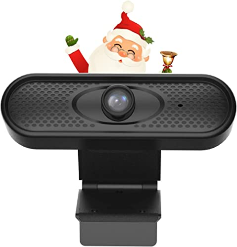 Webcam with Microphone,Wandwoo 1080P Computer Camera with 120-Degree Wide Angle Plug and Play Streaming Cameras for D...