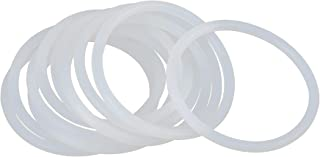 X AUTOHAUX O Ring Dichtung für Auto, Silikon, 60 mm x 4 mm, Weiß, 10 Stück