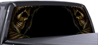 VuScapes - 779-SZD- GRIM REAPER BOTH SIDES Rear Window Truck Graphic - decal suv view thru vinyl