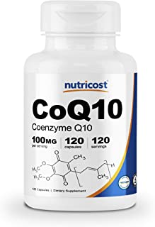 Nutricost CoQ10 100mg, 120 Veggie Capsules, 120 Servings - High Absorption, Vegan, Non-GMO, Coenzyme Q10
