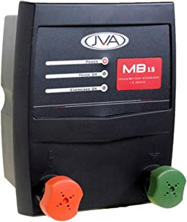 JVA MB8 Electric Fence IP Energizer (Charger) (Mains/Battery) - 8.6 Joules, Powers up to 80 Miles of Fence, Monitor and Control Using Android Phone or Tablet