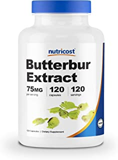 Nutricost Butterbur Extract Capsules (75mg) 120 Capsules - Gluten Free, Non-GMO, Vegan Friendly