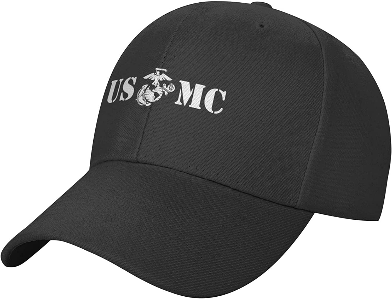 Us mc Ma-Rine-Corps Adjustable Baseball Cap Classic Hat Casquette Unisex Black