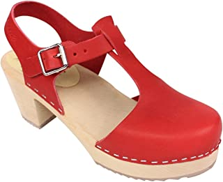 Lotta From Stockholm Highwood T-Bar Clogs in Red