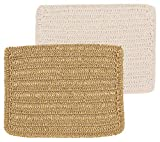Now Designs 2050001aa Scrub and Scour Dishcloths, Set of Two, Gold and White