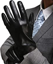 Leather Gloves for Men Full-Hand Touchscreen Gift Packaging Cold Weather Gloves