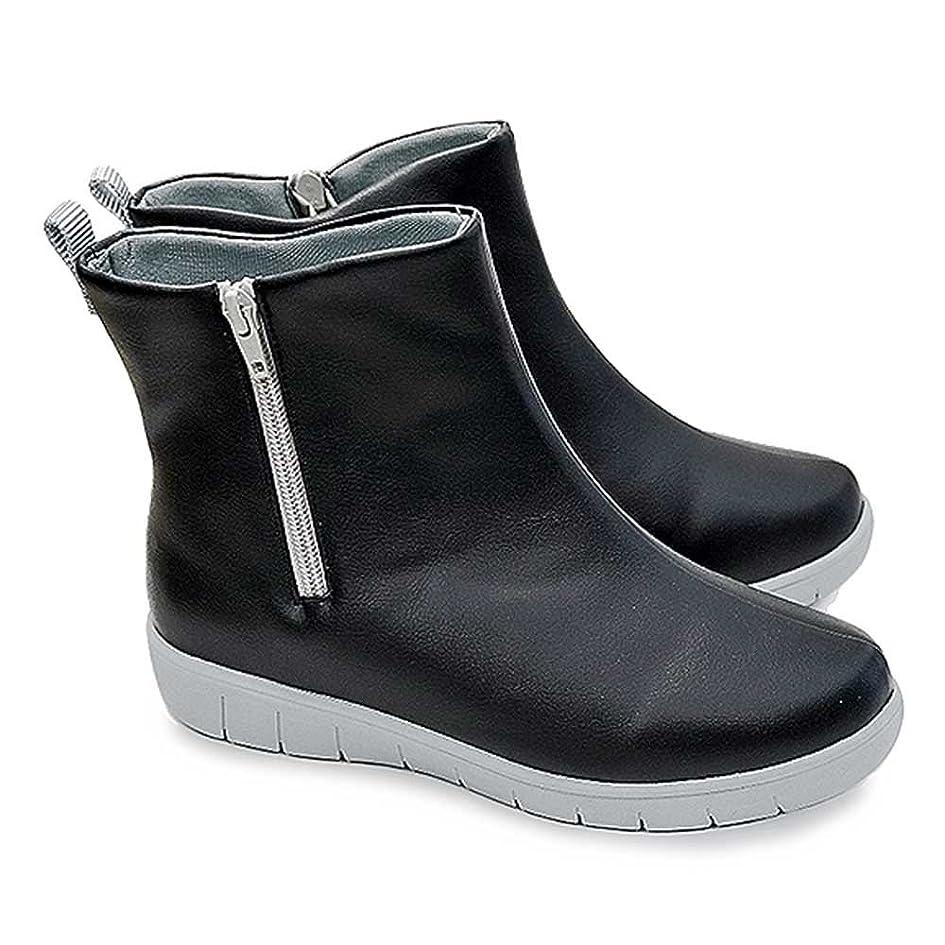 反毒さまよう私たちのもの[パンジー] Pansy 軽量レインシューズ 4944 防水 抗菌防臭加工 レディース レインブーツ 長靴 Pansy ファスナー付 ブラック Lサイズ(24.0cm~24.5cm)