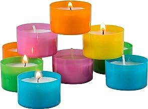 96 قطعة من ستونيبرير شموع إضاءة متعددة الألوان من 6 إلى 7 ساعات