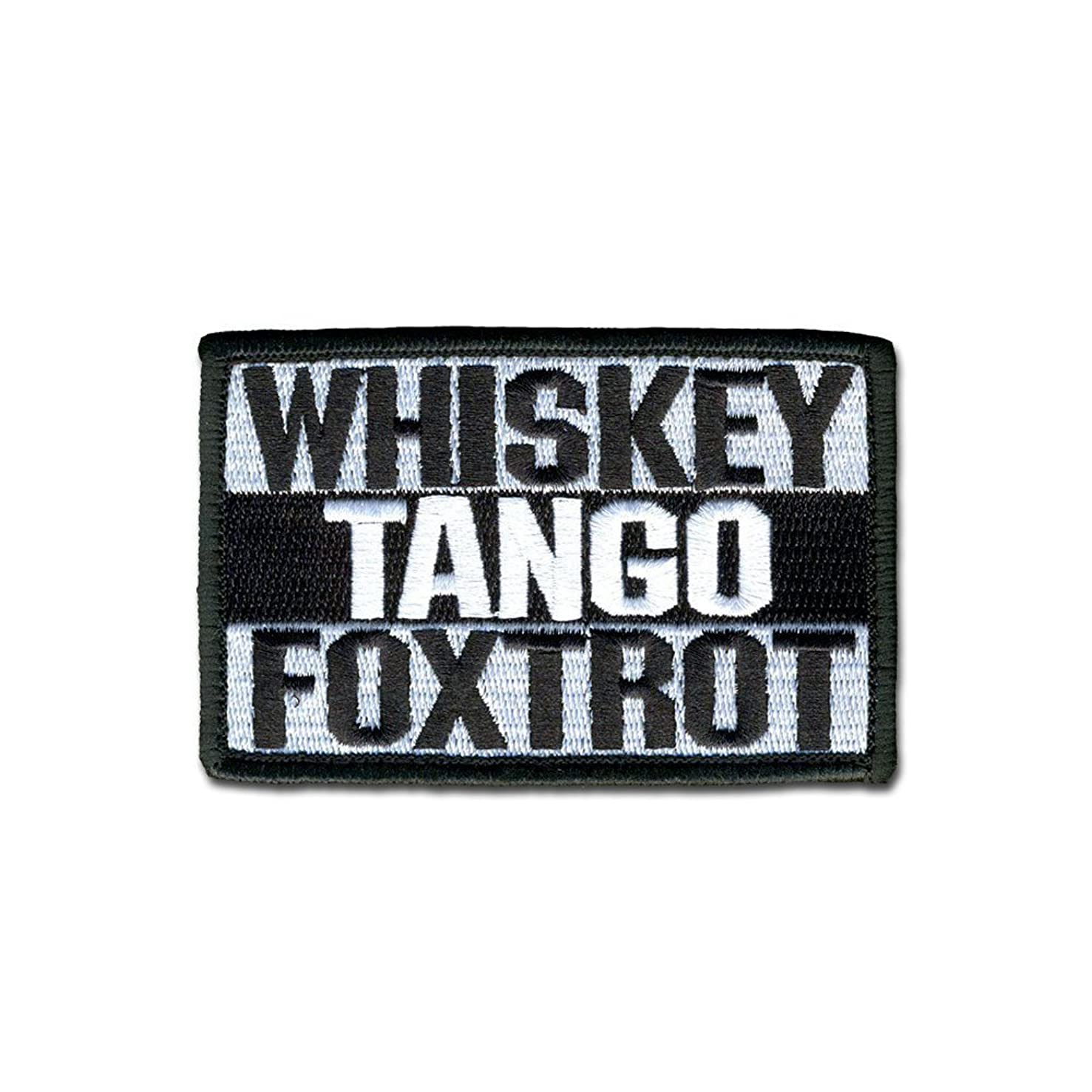 Whiskey Tango Foxtrot Patch Tactical Combat Bagde Military Hook Morale Patch Tactical Military Morale Patch Set Hook/Loop Backing