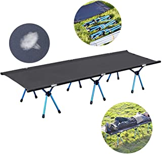 Single Folding Bed Frame,Outdoor Easy to Disassemble Lunch Break Bed Portable Folding Bracket Bed Camping Bed Bearing 120 Kg, 190X65x38cm