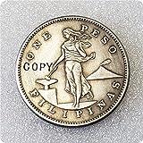 Filipinas 1 Peso (Administración de EE. UU.) Copia Moneda Conmemorativa Año Aleatorio