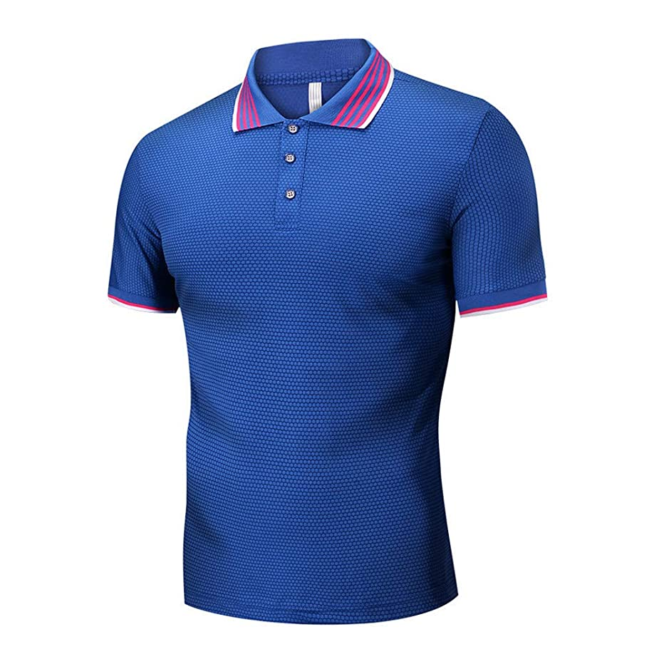 Men Polo Shirts Vickyleb Short Sleeve Tops Casual Euro-American Style T-Shirts Summer Lapel Button Shirt Slim Fit Shirts