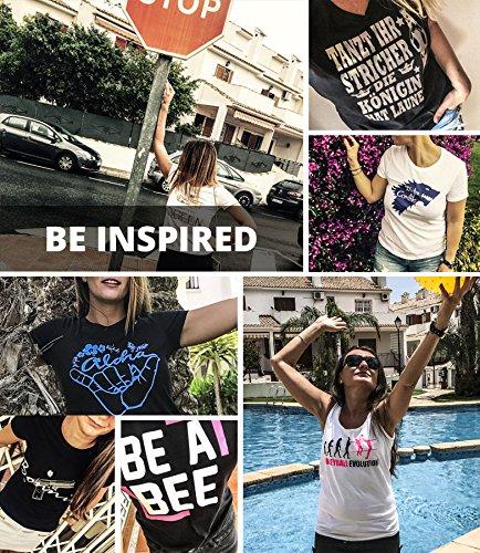 Comedy Shirts – Fahrrad – Damen V-Neck T-Shirt – Navy / Weiss Gr. XL - 2