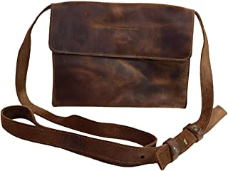 Hide & Drink, Leather Classic Shoulder Bag, Wallet Pouch, Phone Holder, Vintage Organizer, Accessories, Handmade Includes 101 Year Warranty :: Bourbon Brown