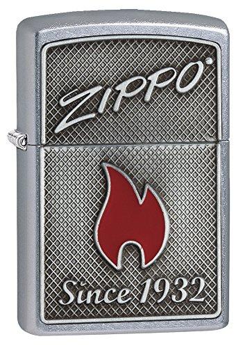 Zippo Aansteker Flame Stormaansteker, eenheidsmaat, Street Chrome