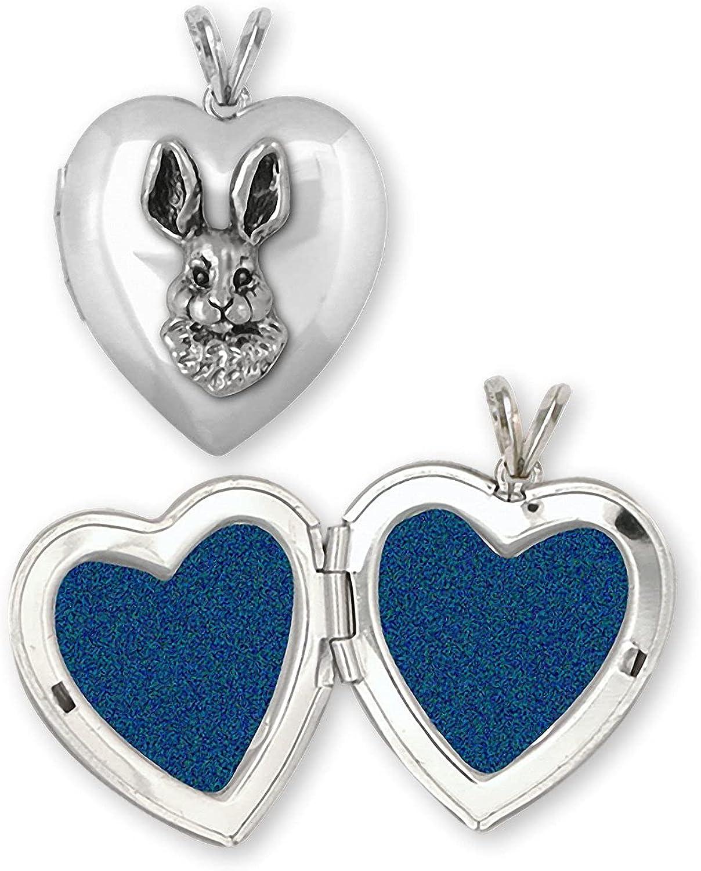 Rabbit Max Max 85% OFF 57% OFF Jewelry Sterling Silver Handmade Locket Photo RA12- Bunny