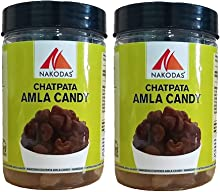 Nakodas Chatpata Amla Candy Organic 200gm (Salted & Spicy Indian Gooseberry)- Pack of 2