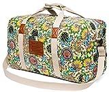 Malirona Canvas Weekender Bag Travel Duffel Bag for Weekend Overnight Trip