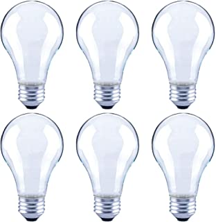 Global Value Lighting FG-03173 60-Watt Equivalent A19 Frosted Glass Filament Dimmable Vintage LED Light Bulb, (6-Pack), Daylight (5000K Kelvin)