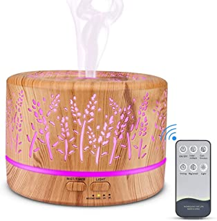 Aromatherapy Diffusers 500ml, MANLI Remote Control Essential Oil Diffuser, Ultrasonic Diffusers Cool Mist Humidifier Vapor...