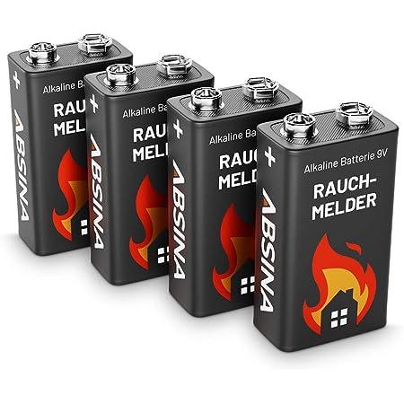 Absina Rauchmelder Batterie 9v Block 4er Pack Elektronik